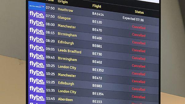 Все полёты авиакомпании Flybe прекращены