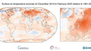 Wärmster Winter in Europa seit Beginn der Aufzeichnungen