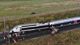 Под Страсбургом TGV сошёл с рельсов