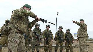 Совместные учения беорусских и британских военных