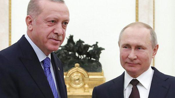 Turkey's Erdogan met Russia's Putin in Moscow for talks over Syria