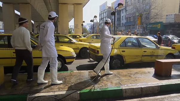 Tehran disinfects streets to protect against COVID-19 coronavirus
