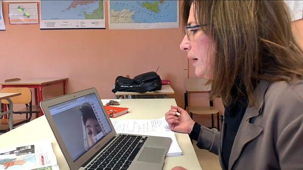 Aulas virtuales ante el cierre de los colegios en Italia por el coronavirus