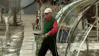 Rumänischer Landwirt Simion Gheorghe