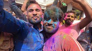 Holi festivities go ahead despite caution from PM Modi over COVID-19