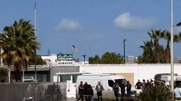 Militant killed, 5 cops injured in blast outside U.S. embassy in Tunis