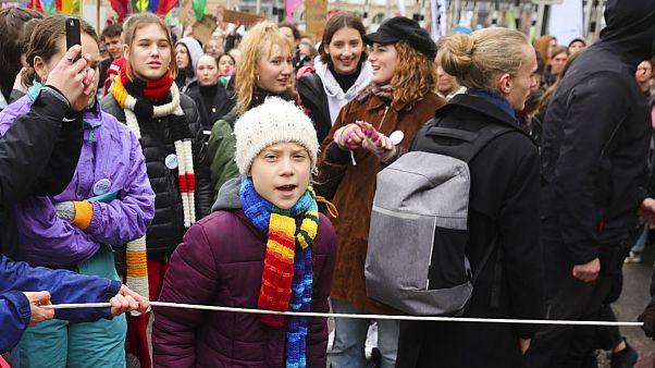 A jovem sueca de 17 anos continua a dar cara pela luta contra as alterações climáticas