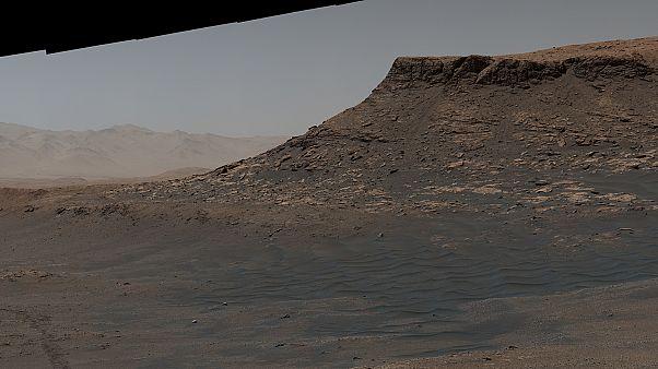 Mars'ta çekilen panaromadan bir kare