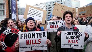 Tüntetés Brüsszelben