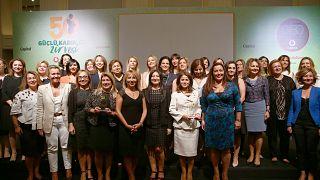 Türkiye kadın yönetci oranında Avrupa'da sondan ikinci.  50 Güçlü Kadın CEO Zirvesi ödül töreni.