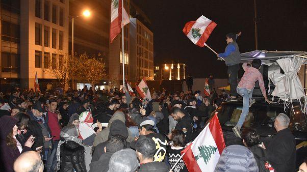 Lübnan'ın başkenti Beyrut'taki gösteriler