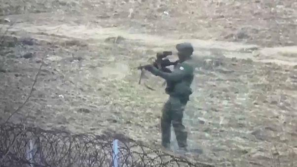 صورة مجتزأة من فيديو نشرته الحكومة التركية اليوم