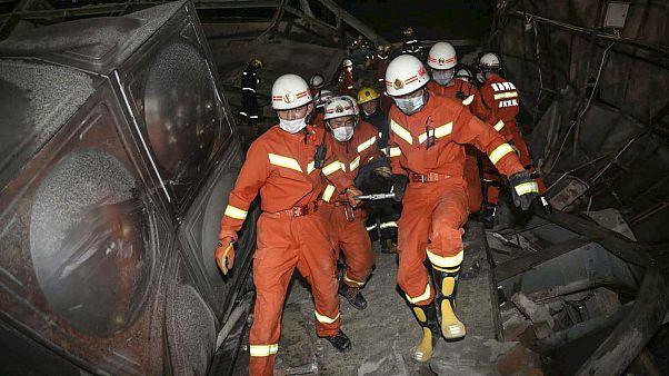 الصين: أربعة قتلى على الأقل جراء انهيار فندق استُخدم لعزل مصابي كورونا