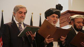 Afganistan Cumhurbaşkanı Eşref Gani ve Afganistan İcra Kurulu Başkanı Abdullah Abdullah