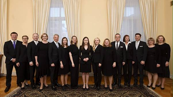 Ministers of the new Finnish government, lead by Prime Minister Sanna Marin