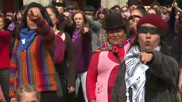 'Un violador en tu camino', himno feminista mundial que suena en Madrid