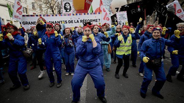 Manifestation pour le droit des femmes à Paris, le 08 mars 2020