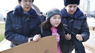 Международный женский день в Бишкеке.