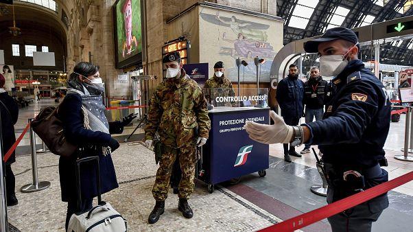 Norte de Itália paralisado por quarentena