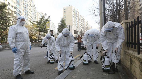 إجراءات حازمة في كوريا الجنوبية لمنع امنتشار فيروس كورونا