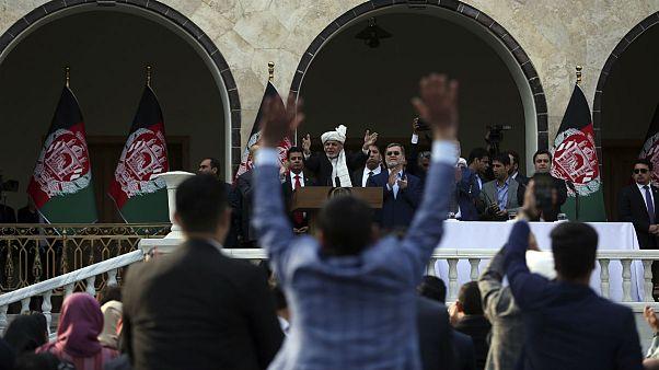 مراسم تحلیف «دو رئیس جمهوری» در یک روز در افغانستان؛ غنی و عبدالله سوگند یاد کردند