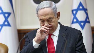 رئيس الوزراء الإسرائيلي بنيامين نتنياهو يترأس الاجتماع الأسبوعي للحكومة في القدس 08/02/2020