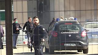 Carabinieri begin to free hostages after a prison riot in Modena, near Bologna, Italy