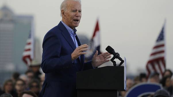 Joe Biden had been speaking during a campaign appearance in Kansas City on Saturday.