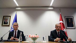 Cumhurbaşkanı Recep Tayyip Erdoğan, NATO Genel Sekreteri Jens Stoltenberg ile görüştü. Görüşme sonrası ortak basın toplantısı düzenlendi