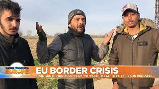 Migrants in the EU-Turkey border