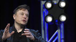 """الرئيس التنفيذي لشركة """"سبايس إكس""""، إيلون ماسك، يتحدث في مؤتمر ومعرض """"ساتيليت"""" في واشنطن 09/03/2020"""
