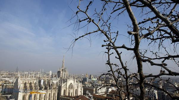 A view of the Duomo gothic cathedral in Milan, Italy, Wednesday, Jan.27, 2010. (AP Photo/Luca Bruno)