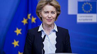 European Commission President Ursula von der Leyen (Photo by Kenzo TRIBOUILLARD / AFP)