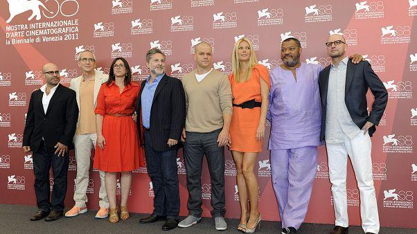 Scott Z. Burns, Michael Shamberg, Stacey Sher, Gregory Jacobs, Matt Damon, Gwyneth Paltrow, Laurence Fishburne, Steven Soderbergh