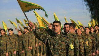 صورة من عرض نظمه حزب الله في جنوب لبنان في 2016