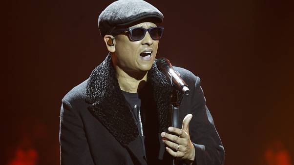Xavier Naidoo performs during the 2016 Echo Music Awards in Berlin, Thursday, April 7, 2016.  (AP Photo/Markus Schreiber, Pool)