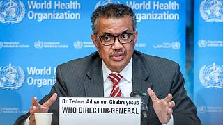 Le directeur général de l'Organisation mondiale de la santé (OMS), Tedros Adhanom Ghebreyesus, le 11 mars 2020 à Genève.