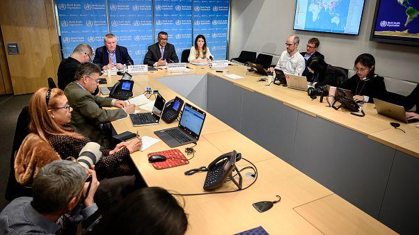 Брифинг в штаб-квартире ВОЗ в Женеве