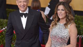 Tom Hanks és felesége, Rita Wilson egy 2014-es díjátadón