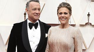 وصول توم هانكس وزوجته ريتا ويلسون إلى حفل الأوسكار على مسرح دولبي في لوس أنجلوس  09/02/2020