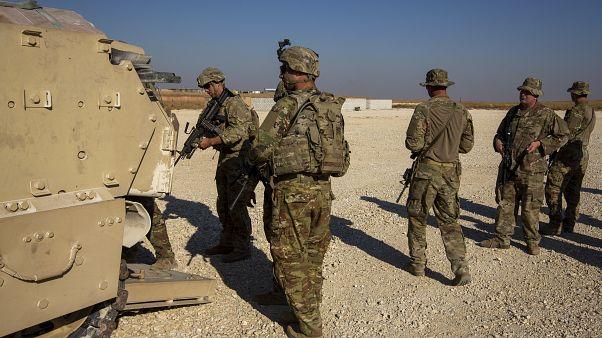 مجموعة من الجنود الأمريكيين في مكان غير معلوم في شمال شرق سوريا  11/11/2019