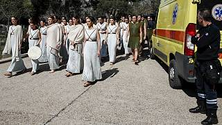کرونا در یونان؛ برگزاری «غریبانه» مراسم تمرین افروختن مشعل بازیهای المپیک ۲۰۲۰