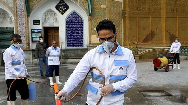 İran'da dezenfekte çalışmaları