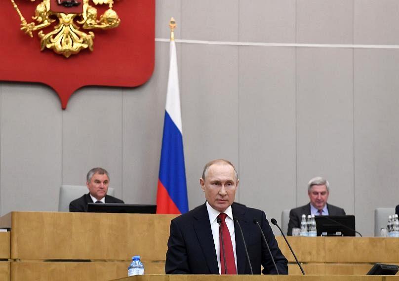 Sputnik, Kremlin Pool Photo via AP