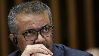 Tedros Adhanom Ghebreyesus, Director General of the World Health Organization (WHO), gives a statement to the media about the response to the COVID-19 virus