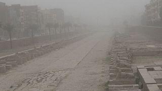 Песчаная буря в Луксоре