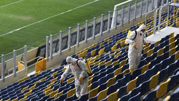 Ankara'da stadyumlarda dezenfekte çalışmaları
