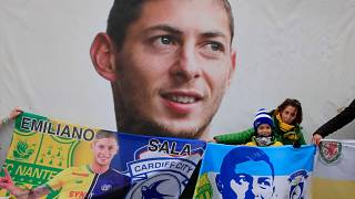 Supporters pay tribute to Argentinian soccer player Emiliano Sala