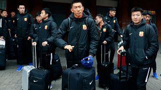 Vuhan takımı oyuncuları İspanya'dan hızla ayrılarak ülkeleri Çin'e gitti
