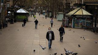 İspanya'da koronavirüs salgını sonrası sokaklar boşaldı